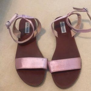Steve Madden sandals with pink satin strap